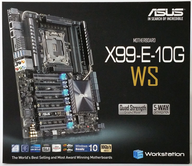 ASUS X99 E 10G WS Workstation Motherboard Retail Box Front