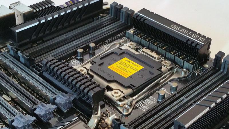 ASUS X99 E 10G WS Workstation Motherboard Socket Area