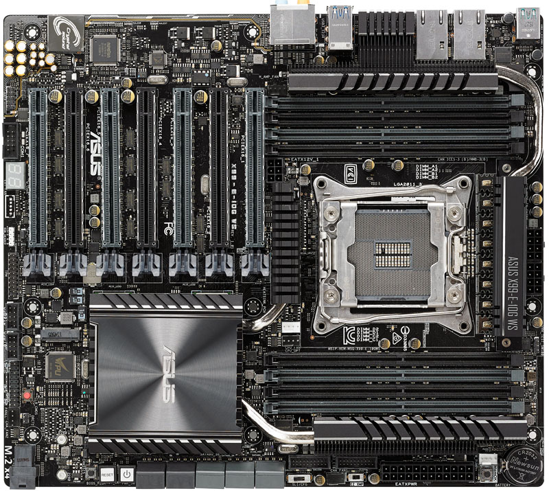 ASUS X99 E 10G WS Workstation Top View