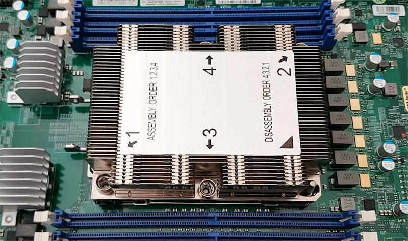 Intel Knights Landing Supermicro Thermal Solution No Latch
