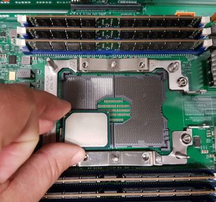Intel Xeon D Broadwell DE Package Over A LGA 3647 Socket