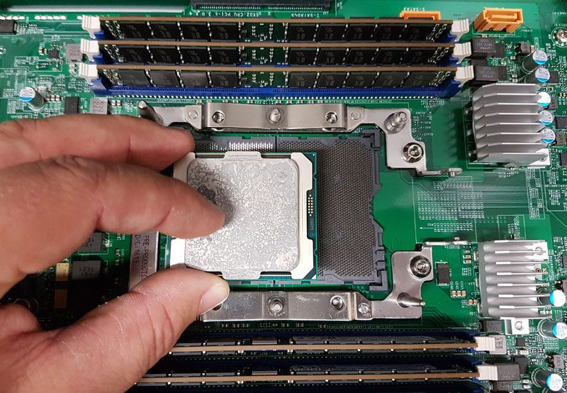 Intel Xeon E5 Broadwell EP Package Over A LGA 3647 Socket