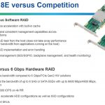 Microsemi 8E Series RAID Adapters Competitive
