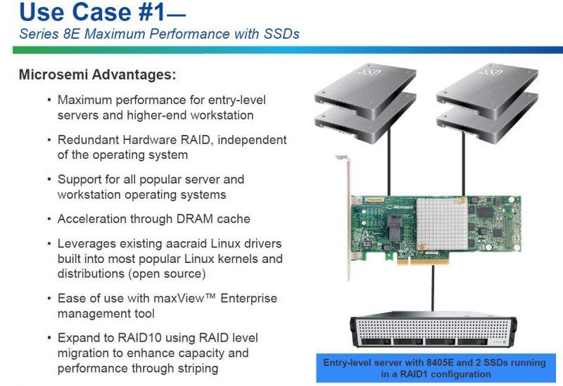 Microsemi 8E Series RAID Adapters Use Case 1