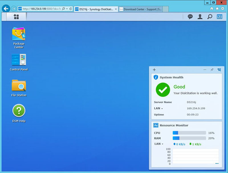 Synology DS216j Management