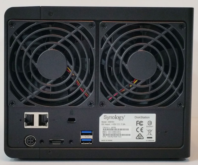 Synology DS916 Back
