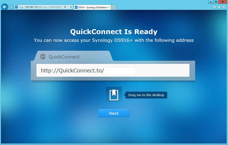 Synology DS916 QuickConnect Ready