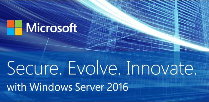Windows Server 2016 Tagline