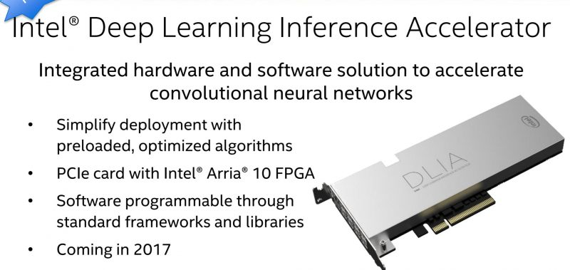 Intel Deep Learning Inference Accelerator Coming 2017 SC16