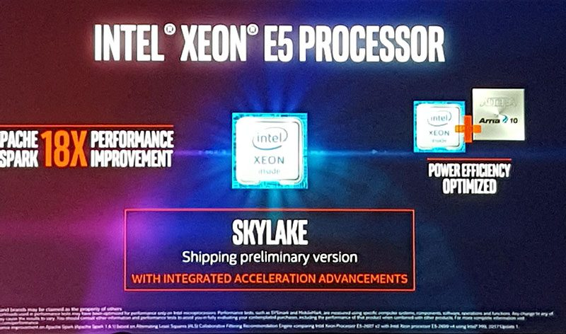 Intel Xeon E5 Skylake AI Day 2016