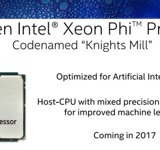 Intel Xeon Phi Kinghts Mill Coming 2017 SC16