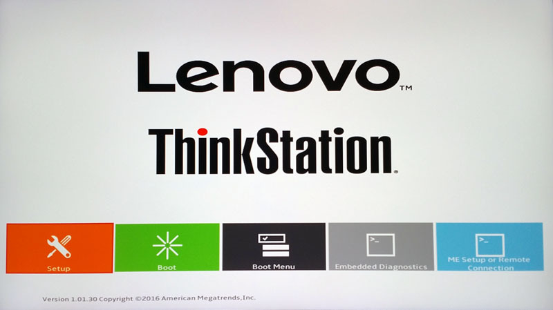 Lenovo ThinkStation P410 BIOS 1
