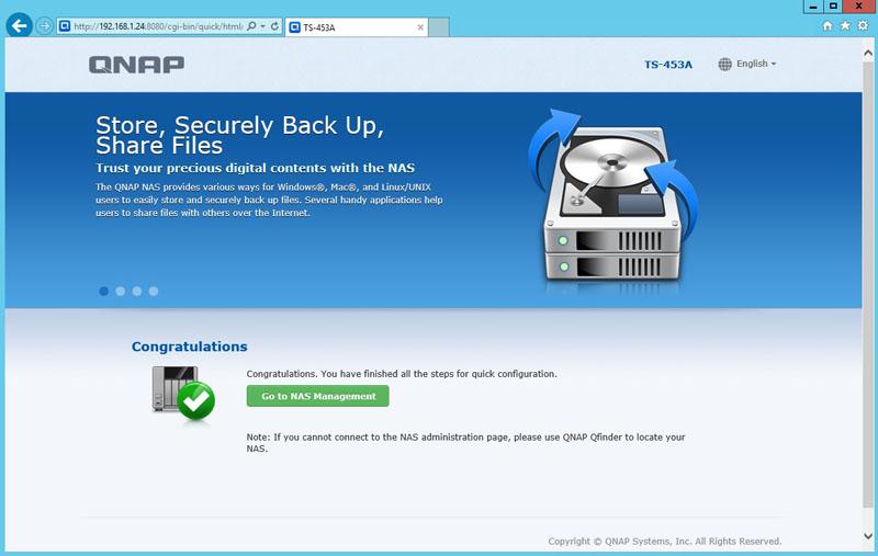 QNAP TS 453A Installation 16