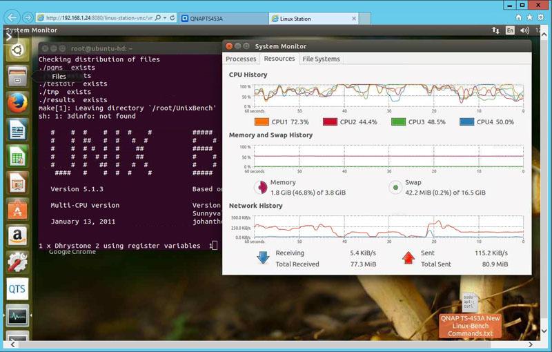 QNAP TS 453A Linux Bench - ServeTheHome