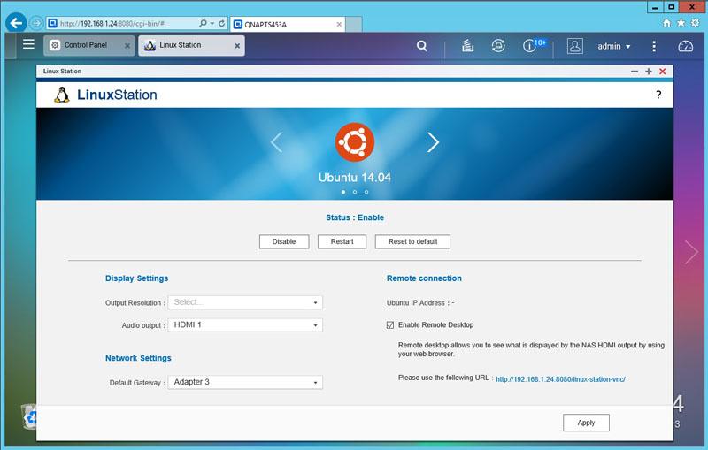 QNAP TS 453A Ubuntu Install Complete