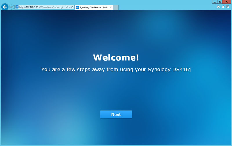 Synology DS416j Installation 2