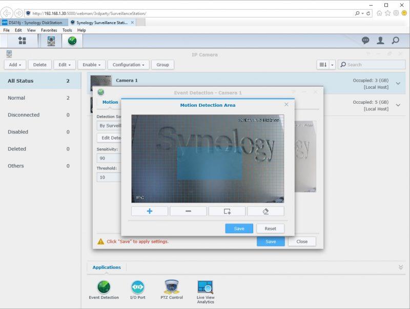 Synology DS416j Surveillance Station 10