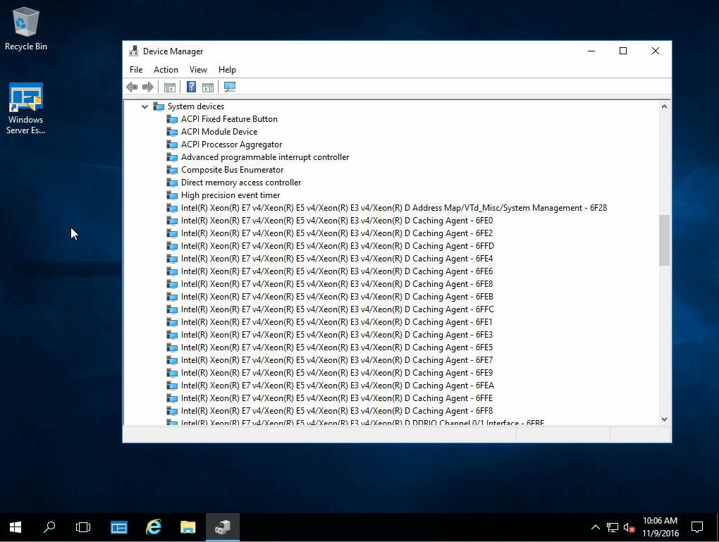 Windows Server Essentials 2016 with Intel Xeon D - Works out
