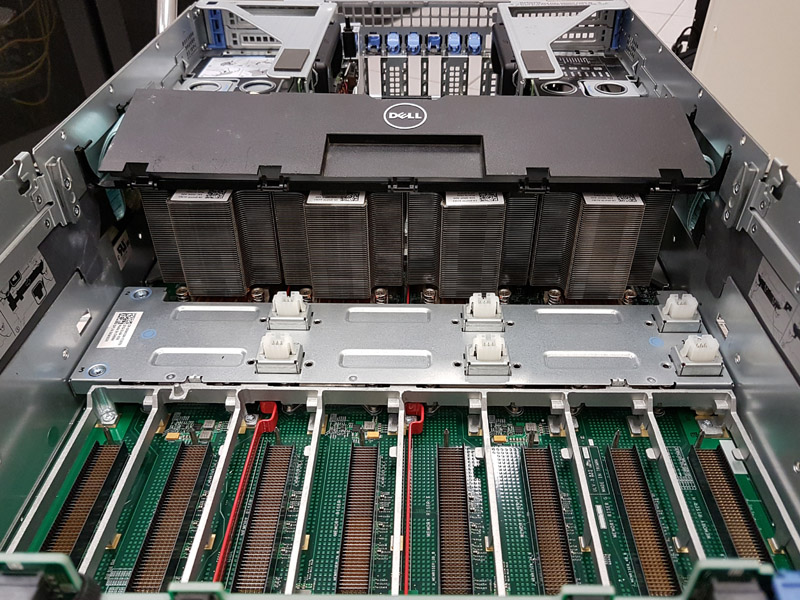 Dell PowerEdge R930 PCIe Expansion Above PSUs With Networkin