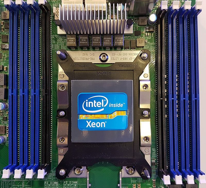 Intel Purley With Apache Pass DIMM Slots In Black