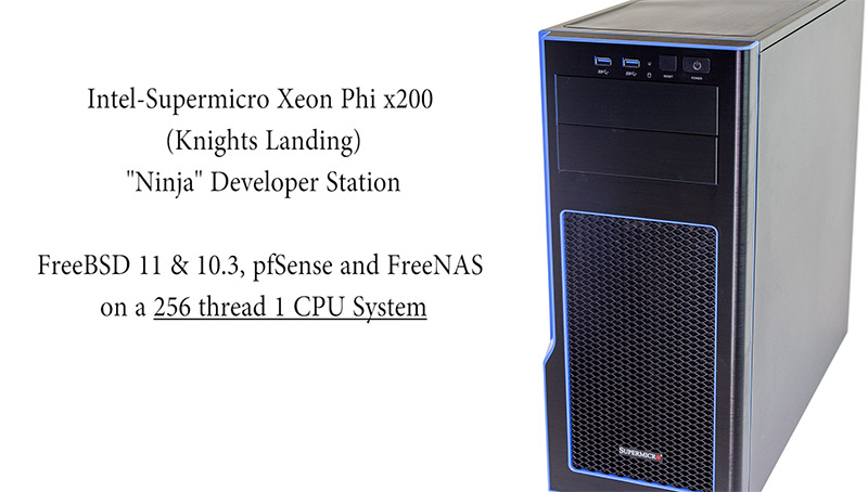 Intel Supermicro Xeon Phi X200 Dev Station FreeBSD Title
