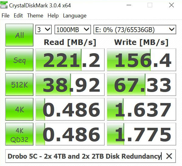 Drobo 5C 2x 4TB And 2x 2TB Disk Redundancy