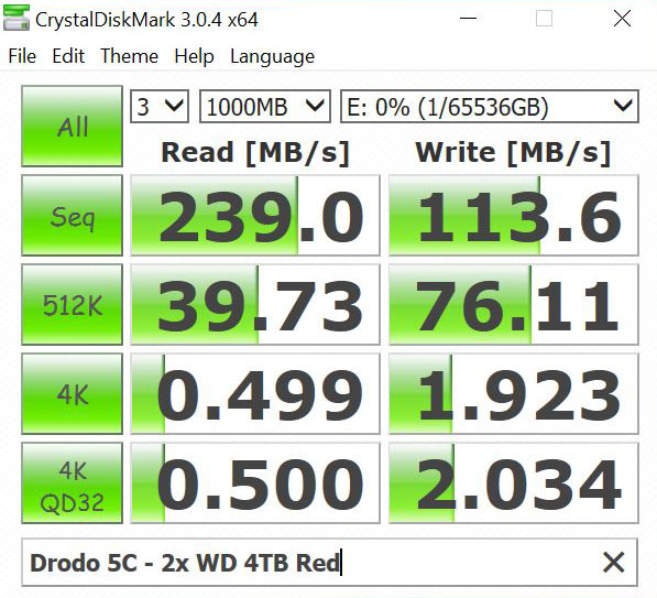 Drobo 5C 2x WD 4TB Red