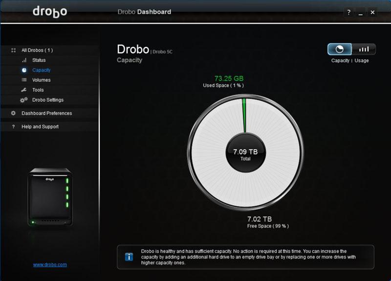 Drobo 5C Adding Drive #3