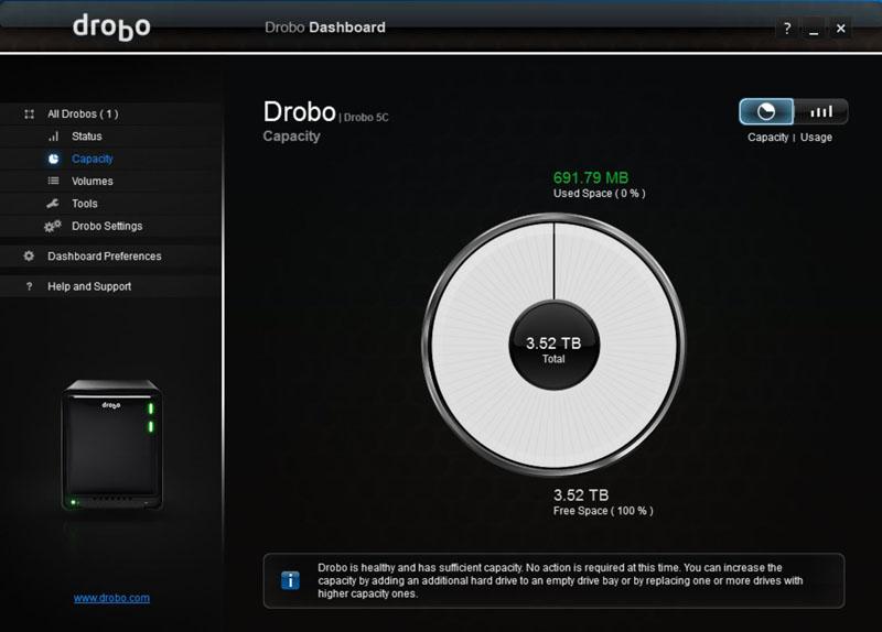 Drobo 5C Dashboard #13