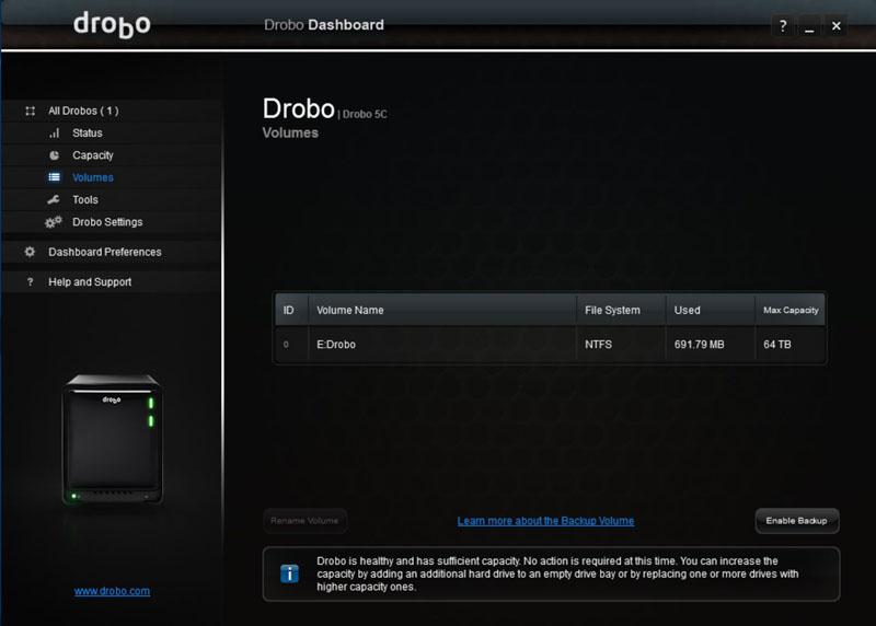 Drobo 5C Dashboard #14