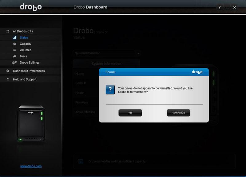 Drobo 5C Dashboard #6