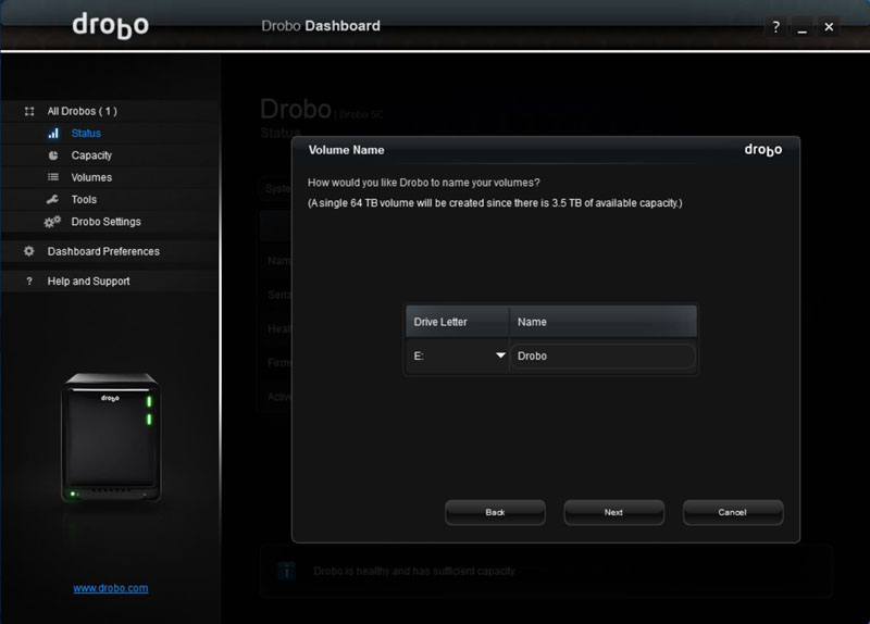 Drobo 5C Dashboard #8