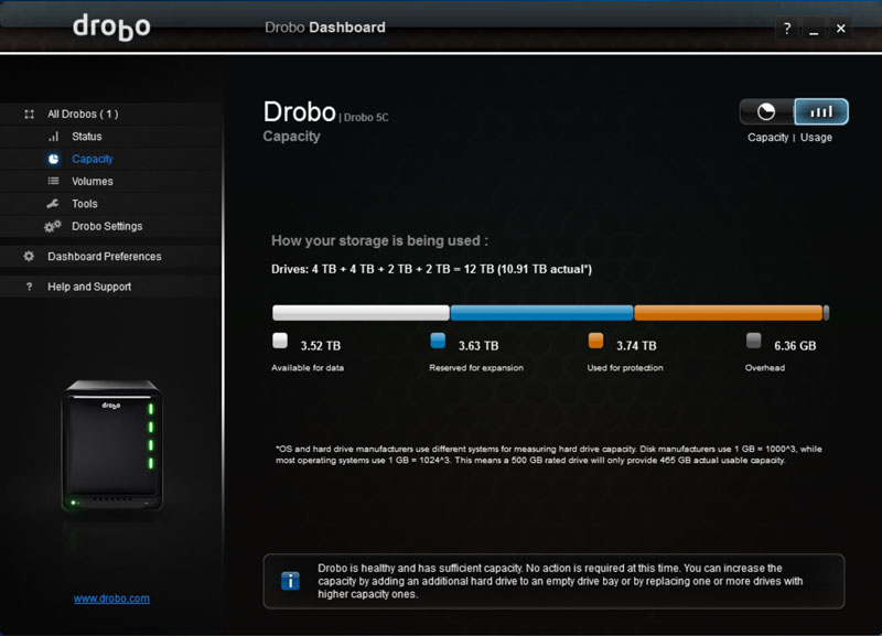 Drobo 5C Dual Disk Redundancy #6