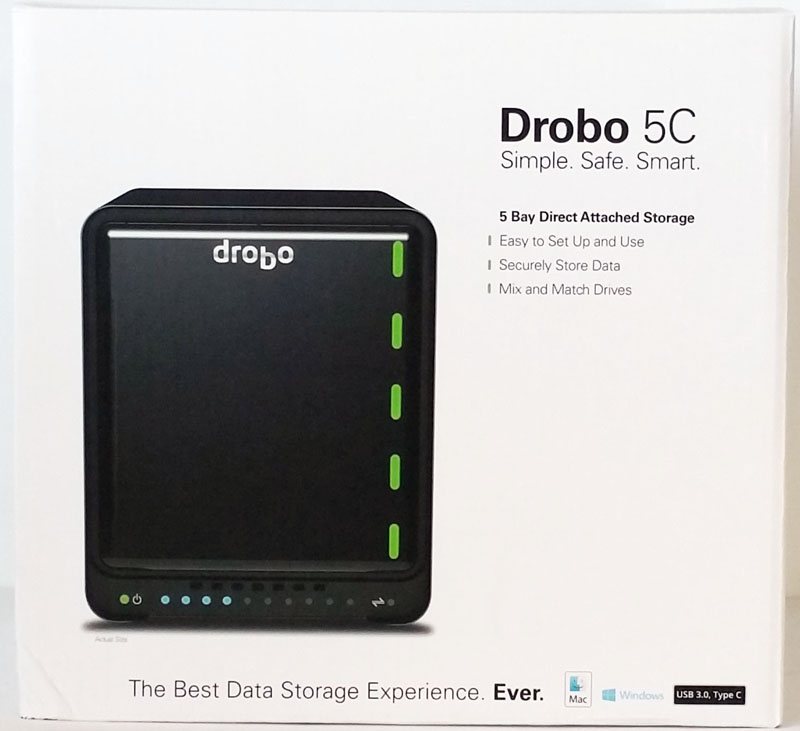 Drobo 5C Retail Box Front