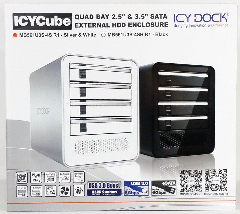 IcyDock Quad Bay MB561U3S 4S R1 Retail Box Front