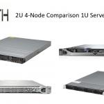 2U 4 Node Power Consumption Test Comparison Servers