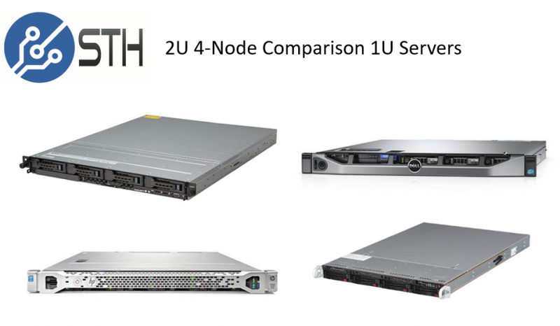 2U 4 Node Power Consumption Test Comparison Servers