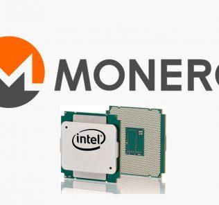 Monero Logo With Xeon E5 Series