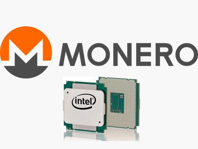 Monero Logo With Xeon E5 Series