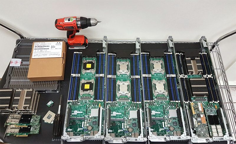 Supermicro Big Twin Nodes Being Setup