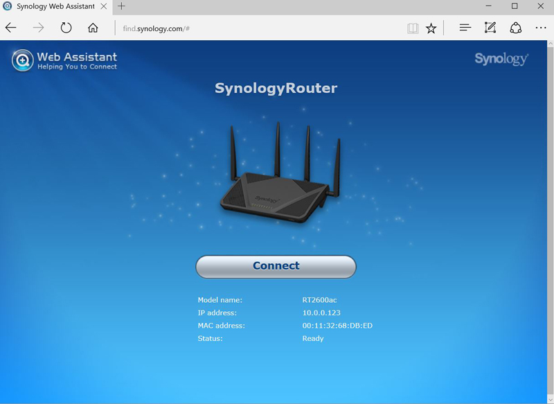 Synology RT2600ac Setup #1