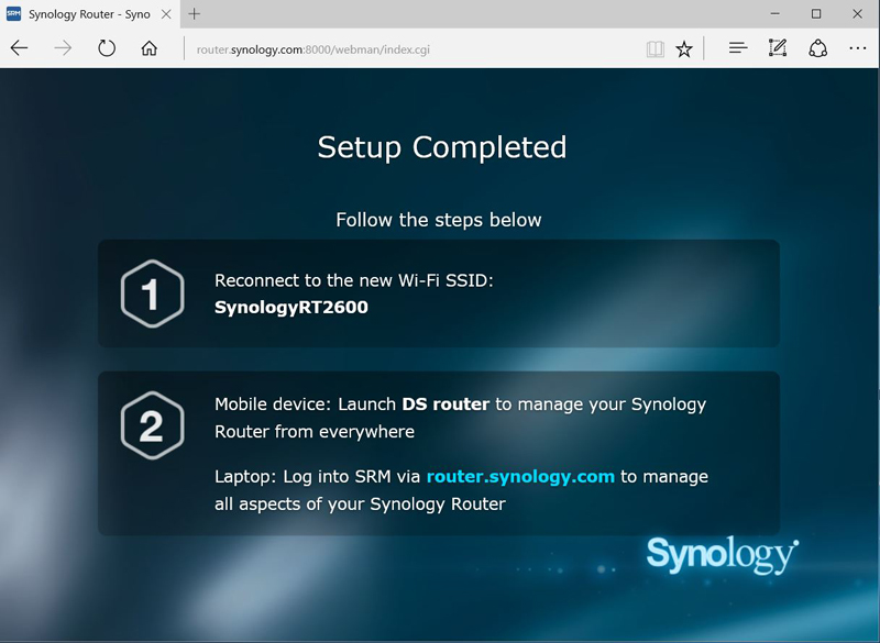 Synology RT2600ac Setup #7