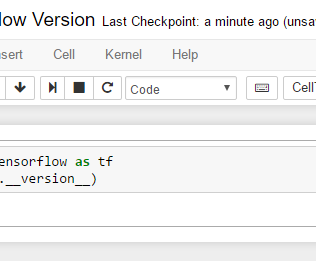 Tensorflow Jupyter Version