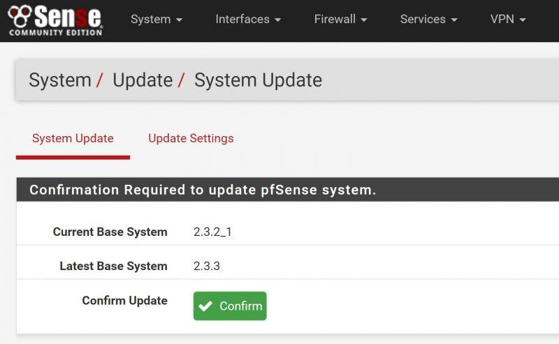 PfSense 2.3.3