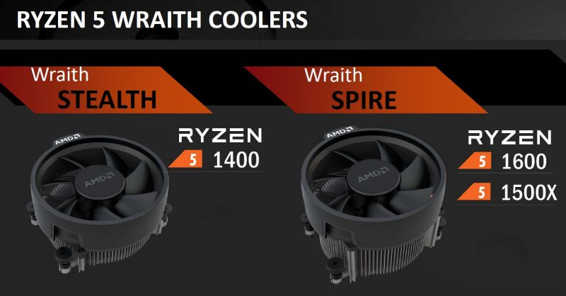 AMD Ryzen 5 Launch Coolers