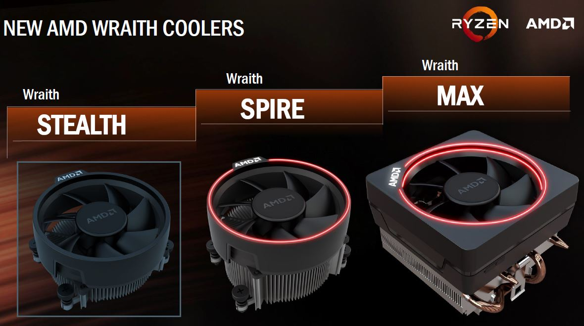 AMD Wraith Coolers For Ryzen Launch
