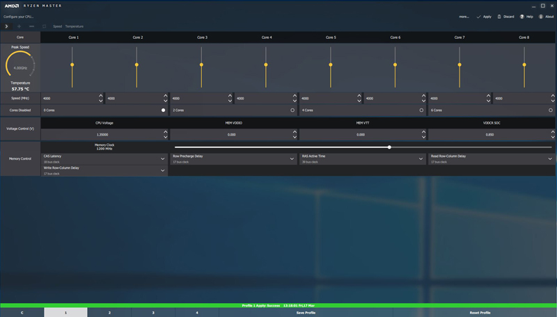 ASRock X370 KILLER SLIac AMD Ryzen Master 2