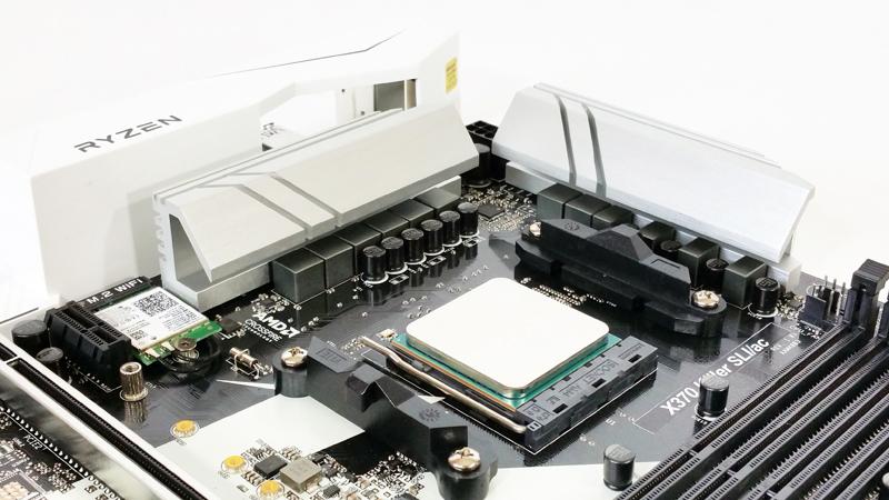 ASRock X370 KILLER SLIac CPU Area