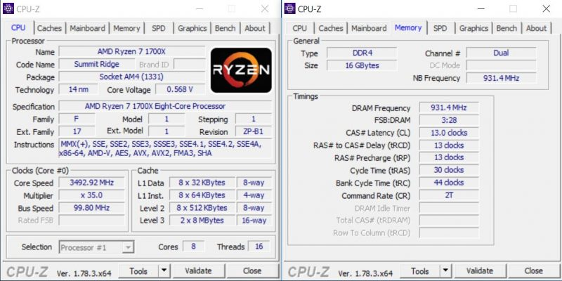 ASRock X370 KILLER SLIac FOB CPUz