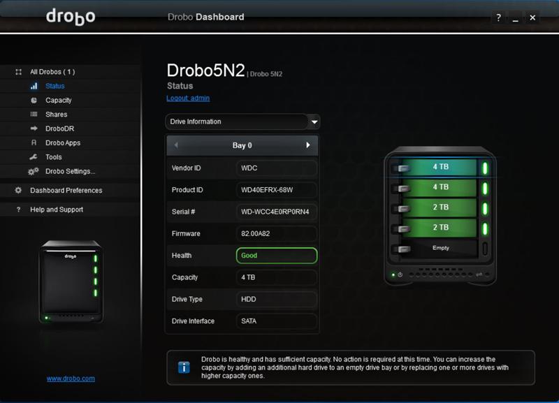 Drobo 5N2 Dashboard 11